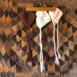 Crochet knitted bonnet bundle